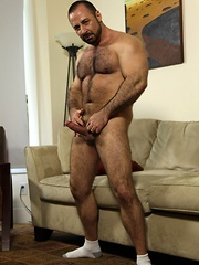 Sexy Rocky LaBarre is the bear at the gym you love to watch sweat drip down his hairy muscular chest