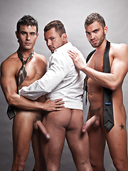 Exclusive Vito and Rafael Invade Angelo's Ass