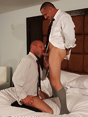 Sexy daddy Kyle Savage was paired with Chad Brock