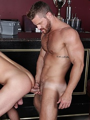 Muscle stud Landon Conrad seems to have a sweet spot for the young and hung Lucas Knight