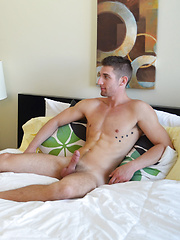 Austin fucks Brad missionary and doggy style before rolling him on his side and fucking the cum out of him