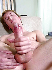 Tucker Jones strokes big cock