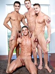 Falcon Studios - Connor Maguire, Ryan Rose, Lance Luciano & Darius Ferdynand