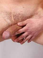 Jett Martin busts a nut all over his hard abs.