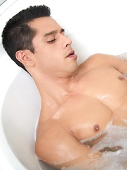 After a long day of work Bobby has returned back home to relax in a warm bubble bath