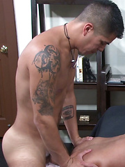 Mark Rivera returns with a sore ass, and endures a pounding by Gio Ryder.  Gio makes sure he ...