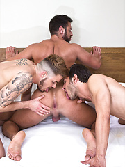 Valentino Medici, Fabio Lopez, and Mark Sanz Blow Their Raw Loads
