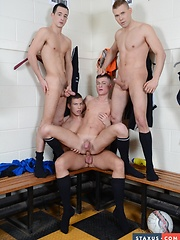 Cute Twink Gets Three Cocks For The Price Of One - Not To Mention Oodles Of Pent-Up Cum!