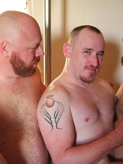 Big Bear Bareback Group Fuck