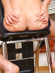 Jason Xander tugs on his beautiful cock.