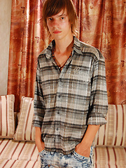 Long-haired twink Dominic loves big anal toys and lots of slippery lube, check out the pleasure ...
