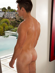 Evan shows his nude body