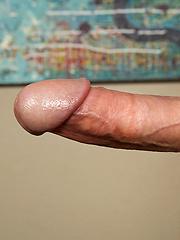 Ed touching his long cock