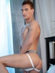 Horny Newbie Gets His Arse Pounded By Two Studio Favourites!
